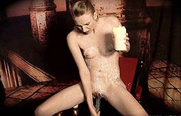 Horny blonde loves to masturbate